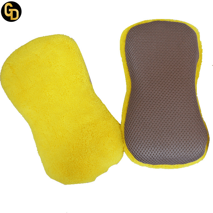 Super absorbent to clean and high density coral velvet car cleaning sponge for sale