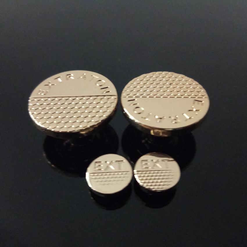 ustom Made Engraving Metal Light Gold Jeans Button Zinc Alloy Garment Metal Button Shank Coat Tack Button sale
