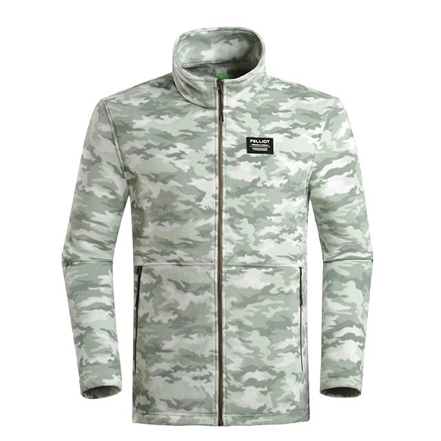 Custom the fleece clothing Warm Camping & Hiking Wear Camo Man Fleece Jaket for sale