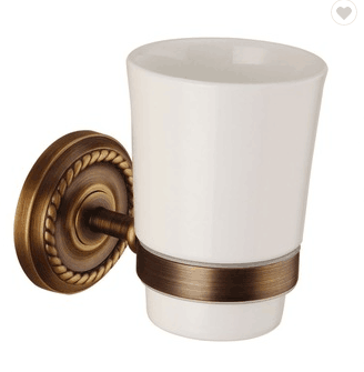 Wholesale high quality antique brass bathroom accessories cup for sale