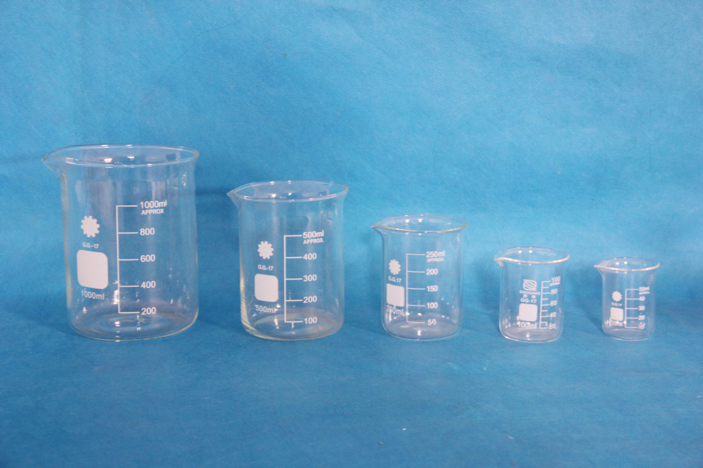 Beaker glass/Chemistry Laboratory instruments for sale