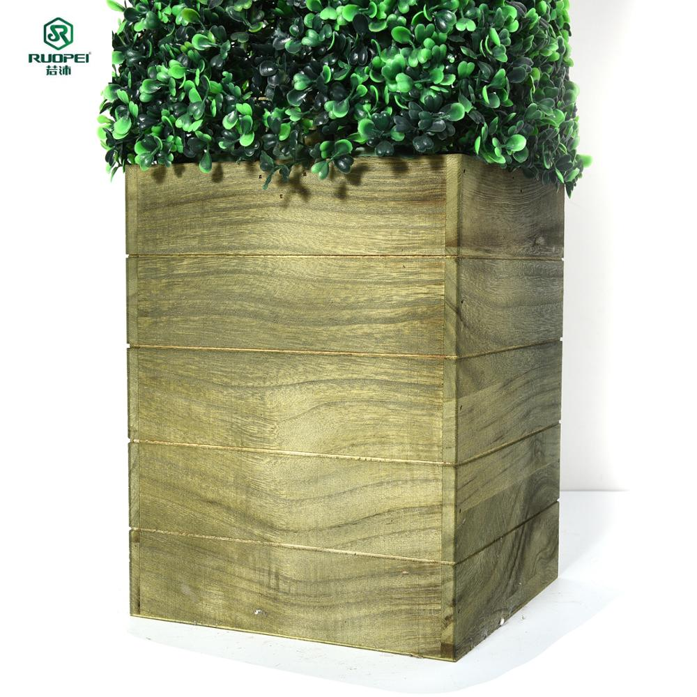 Artificial boxwood grass tower bonsai plants for home and garden decor sale