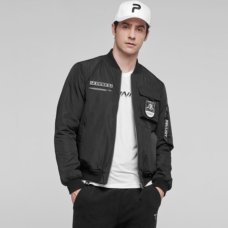 Custom Logo Winter Outdoor Overcoat Rib Collar Golf Thinsulate Pilot Jacket for sale
