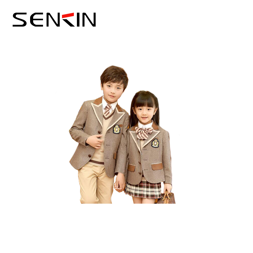 New British Style Kids School Uniform Blazer For Primary School Uniform Designs on Sale