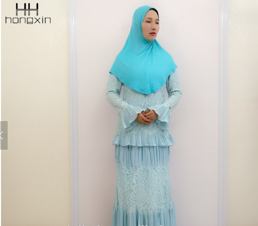 Long sleeve baju kurung in Singapore first lady baju kurung with lace for sale