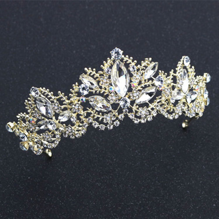Wedding Bridal Hair Accessories Rhinestone Crystal Bling Tiaras Elegant Wedding Crown Designer for Wholesale