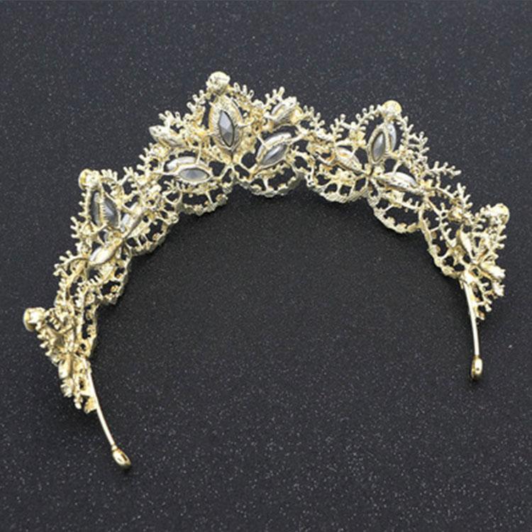 Wedding Bridal Hair Accessories Rhinestone Crystal Bling Tiaras Elegant Wedding Crown Designer for Wholesale