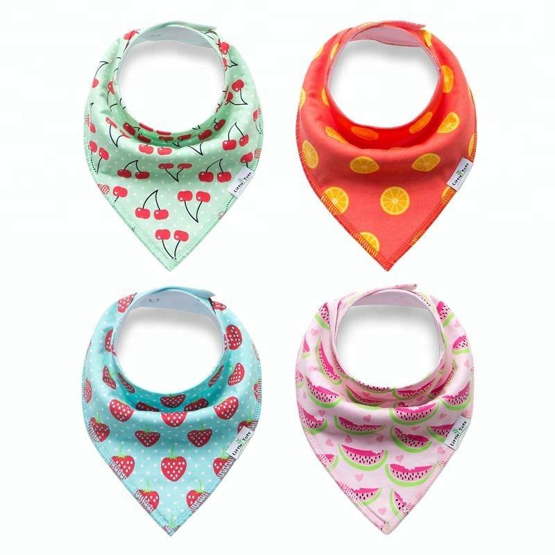 SD33 100% cotton double side triangular saliva towel infant saliva towel baby bibs baby burp cloths for sale