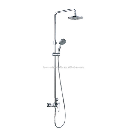 Rotate Tub Filler Bath Shower Mixer Faucet Wall Mount 8 ABS Rainfall Shower Head + ABS Handshowe