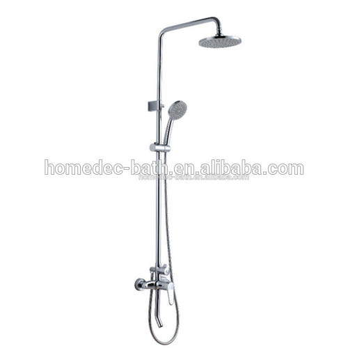 Free Standing Single Handles Tub Filler Shower Tap with Handshower in Chrome