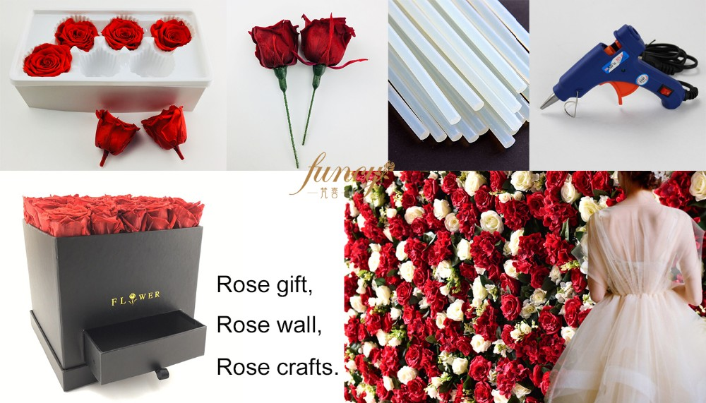Thanksgiving Gifts for Boyfriend Purple Flower Petals Art Rose Box Sale