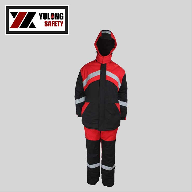 Sale EN 14116 Manufacture Color Fastness 4-5 Grade Working Flame Retardent Chemical Suit