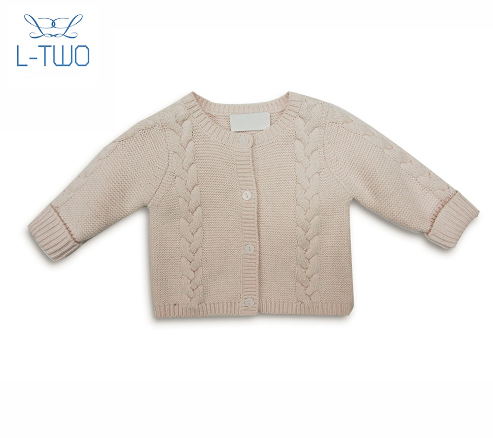 baby sweater/ school girl's round neck jacquard cardigan wool sweater for sale