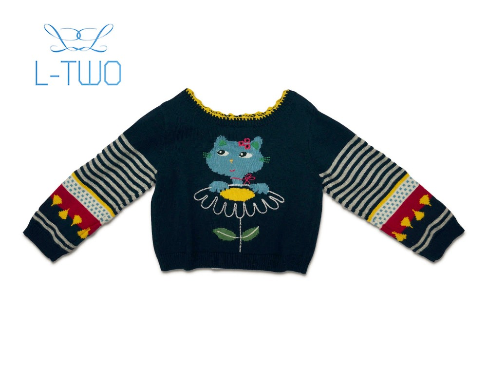 baby girl cardigan  intarsia embo knit sweater for sale