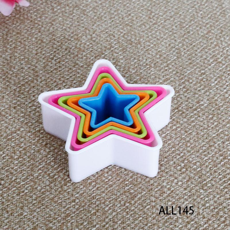 new fresh funny heart shape LFGB plastic cutter cake mould for sale