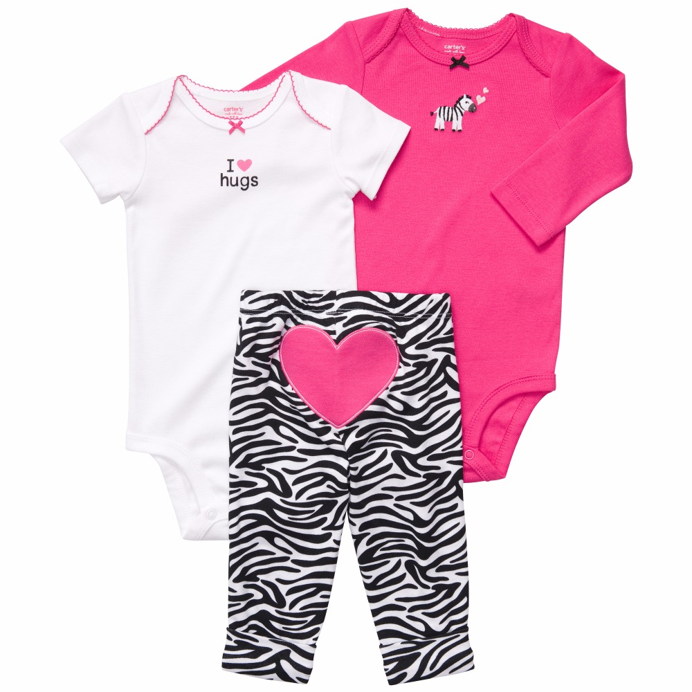 121A8014 3pcs/set new selling fashion design baby toddler clothes set baby romper for sale