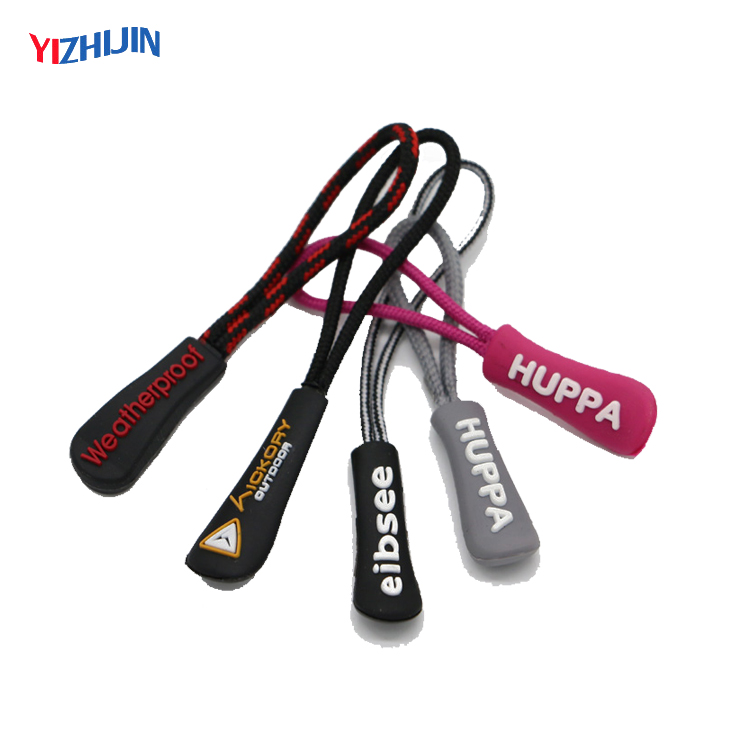 170814C02 High Quality Rubber Zipper Puller Rubber Silicone Zip Puller