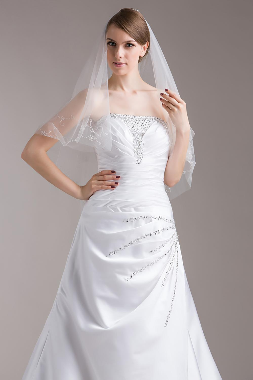 V0815W1-1Hot Sale Beautiful Beaded Bridal Veils for Wedding on Sale