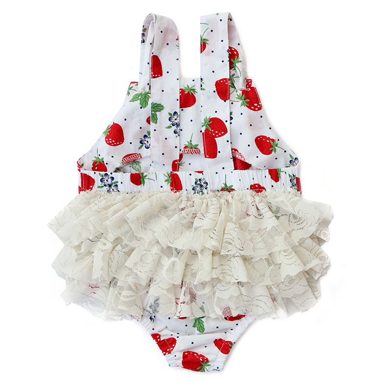 KY-BDK-028 Fashion Design Printed and Ruffled Wholesale Newborn Baby Girl Romper for sale