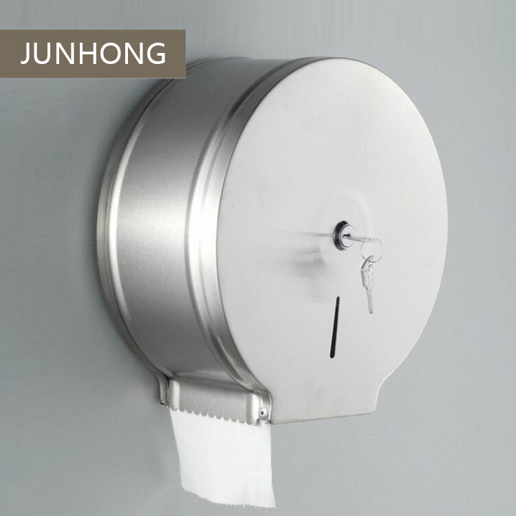 Stainless Steel Public Wall mounted jumbo toilet paper towel dispenser toilet roll holder for sale