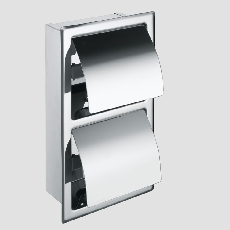 Free Standing stainless steel Double toilet paper roll holder With Ashtary foe sale