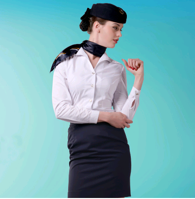 White Shirt And Black Skirts For Eastern Airlines Flight Attendant Uniforms SALE
