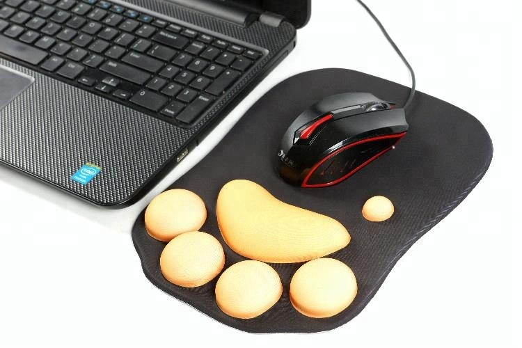 Cut Cat Claws Design Silicone Gel Wrist Rest Mouse Pad for sale