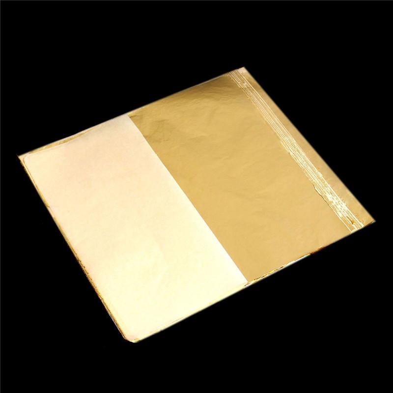 Practical Gold Foil Decor Gold Decoration Craft Paper Foil Golden Leaf Cover Leaf Sheets sale