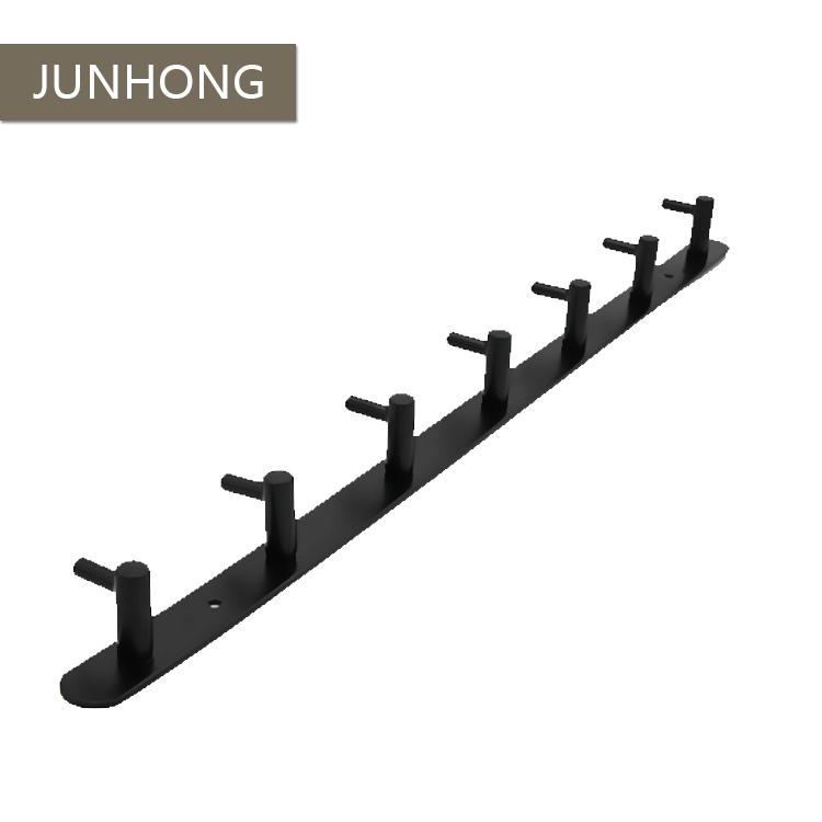 Black matt stainless steel coat hook with 7 hooks for sale