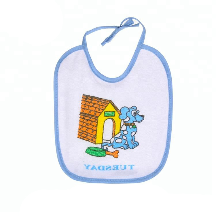 BBDOG Supplies Lovely Dogs Printing Anti-bacterial Baby Bibs for sale