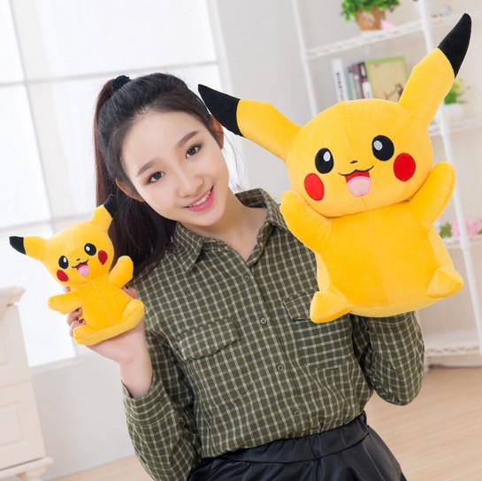 boys and girls pikachu plush toys pokemon kids dolls wholesale soft doll for sale