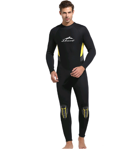 3mm Adult Long Sleeve Neoprene Wetsuit Black with Beautiful Printing Lover's Diving Suit sale
