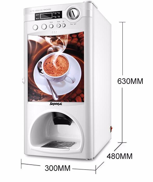 commercial automatic vending machines coin operated coffee machine with cup dispenser sale