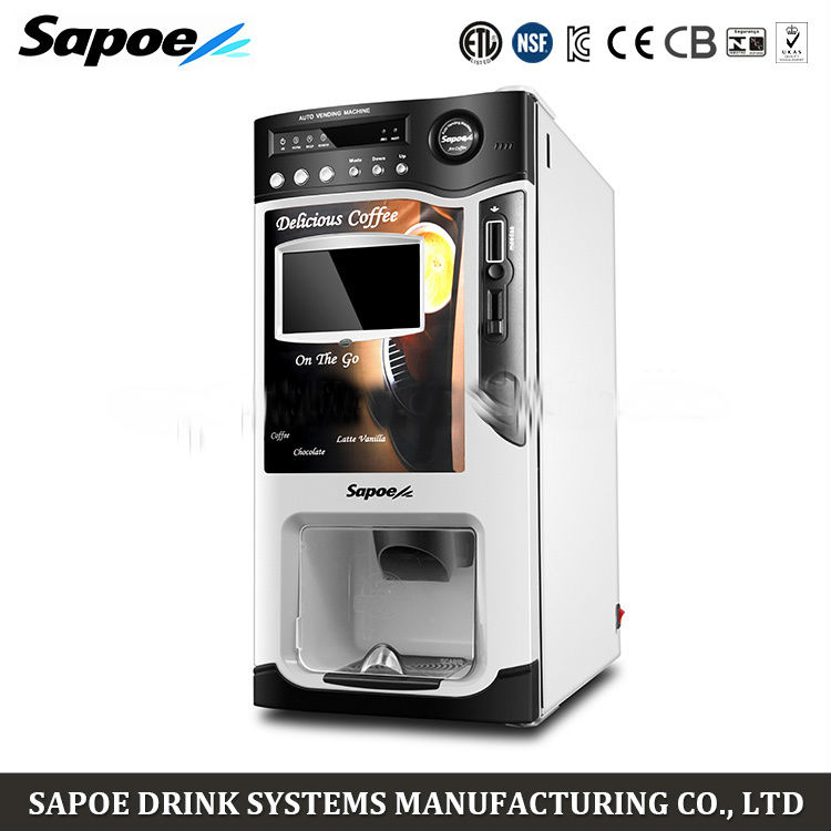 SC-8703BD Commercial touch screen automatic instant coffee vending machine coin mechanism