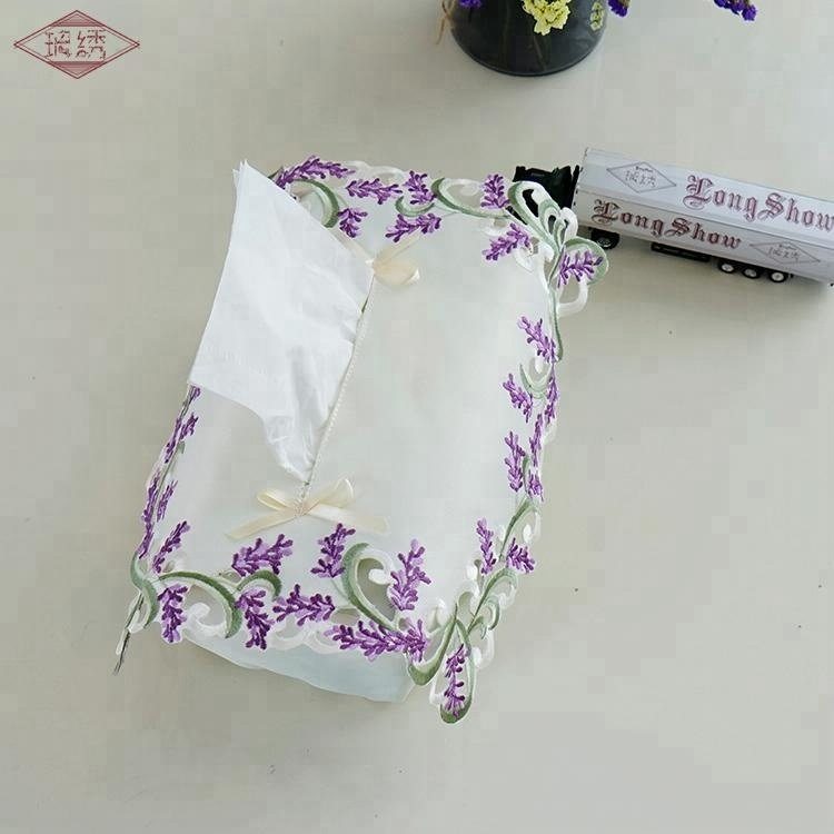 LongShow 100% Polyester Lace Tissue Cover for Home Decoration For Sale