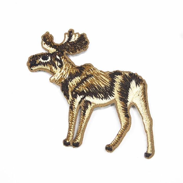 custom iron on embroidery badge embroidery flag sale