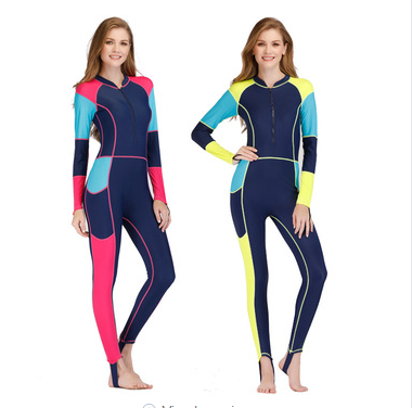 2018 New Arrival Color Stitching lycra wetsuit stinger suit for women sale