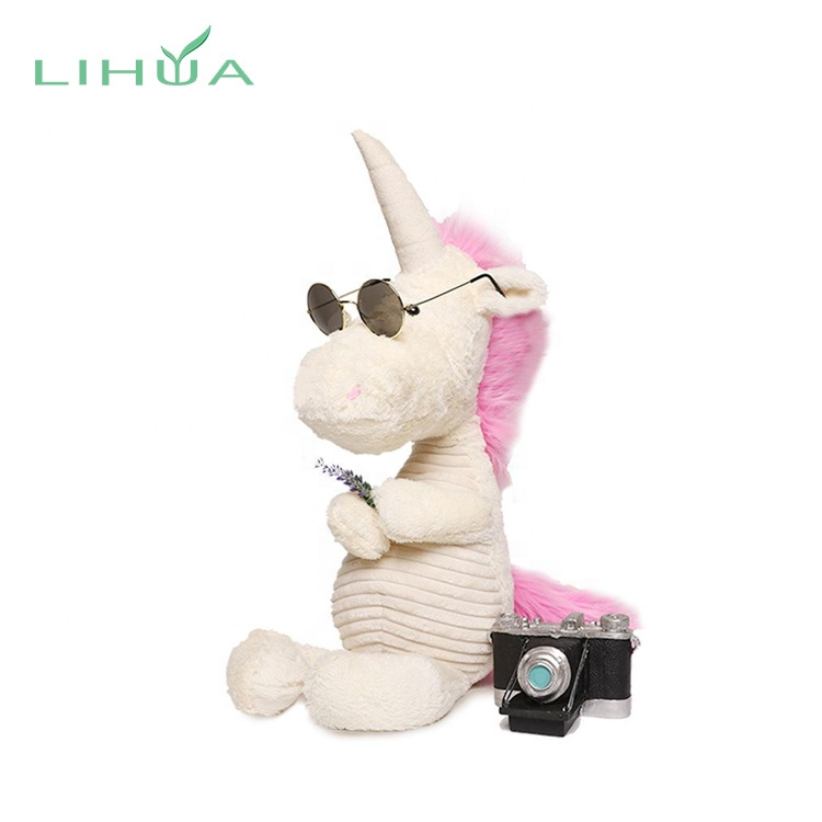 Popular Big Eyes Plush Stuffed Cartoon Animal Unicorn Toy
