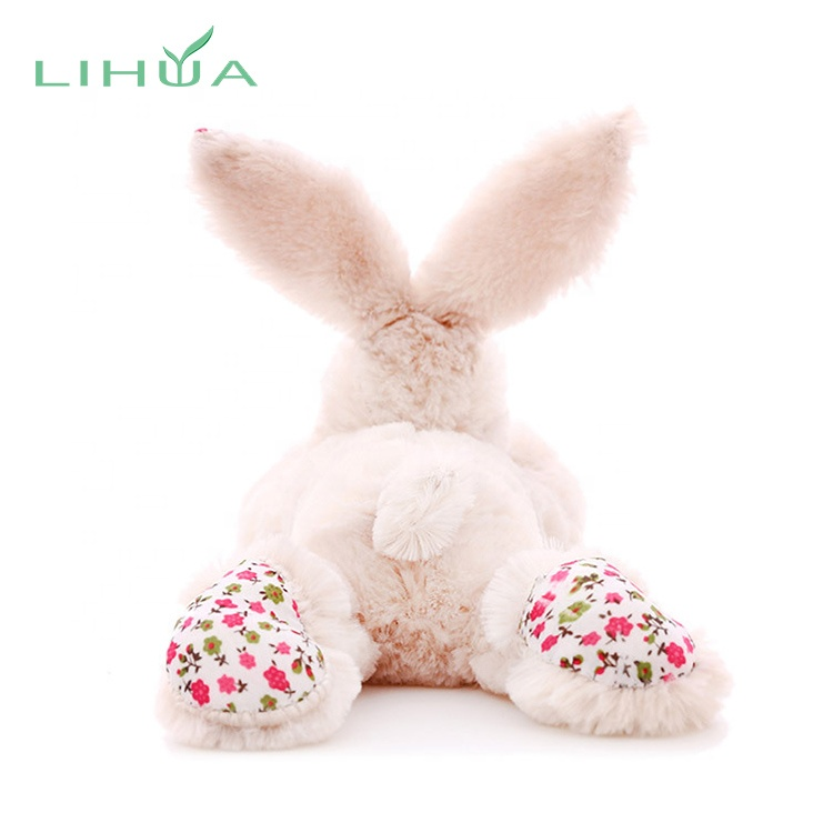 Wholesale Baby Stuffed Plush Toy Floral Bunny Rabbit for sale