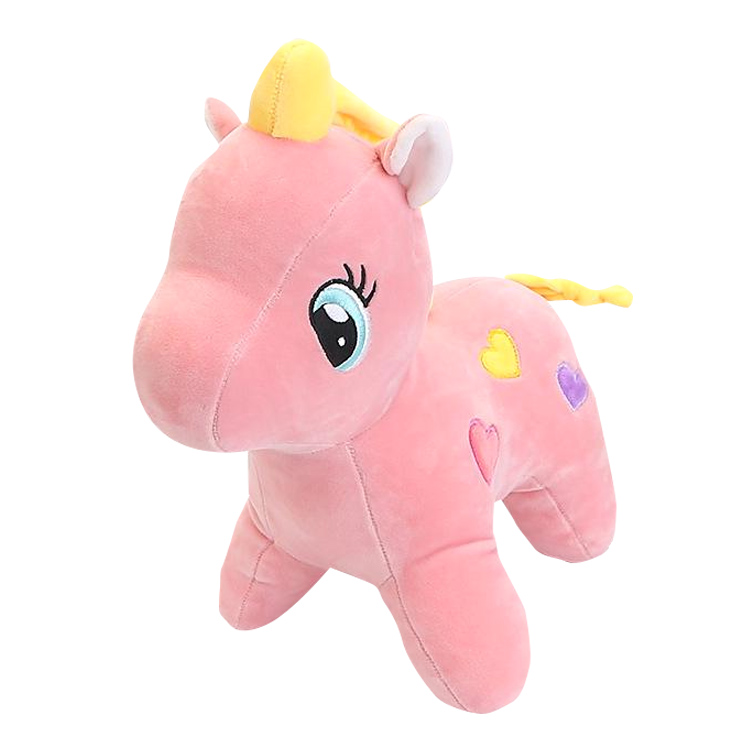 Wholesale Cute Pink Plush Stuffed Unicorn Animal Toy for sale