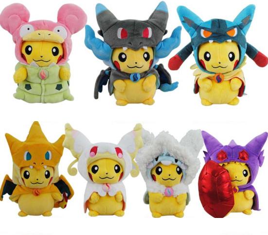 Pokemon Pikachu Charizard hat Plush Soft Toy Stuffed Animal Doll for sale
