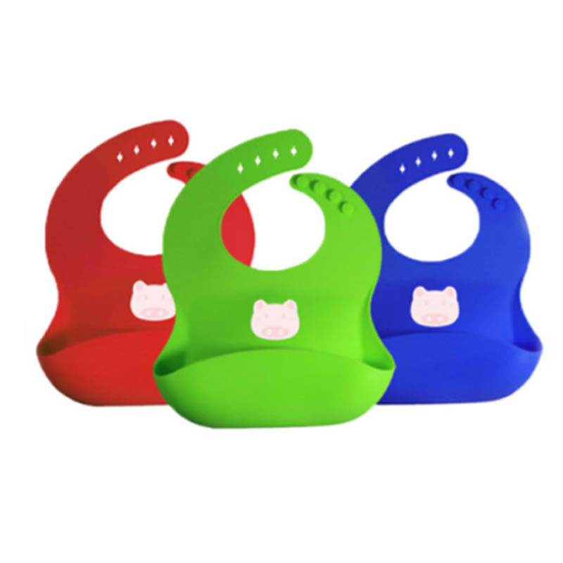 Waterproof Silicone Baby Bib Easily Wipes Clean Comfortable Soft Baby Bibs Keep Stains Off for sale