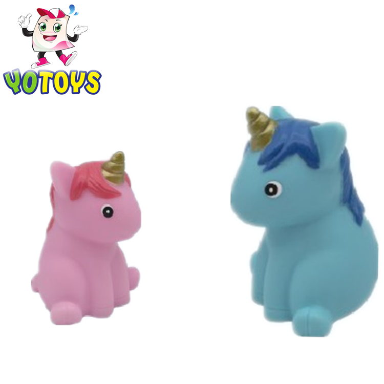 BSCI approved factory wholesale cute rubber bath toy Unicon for kids baby for sale