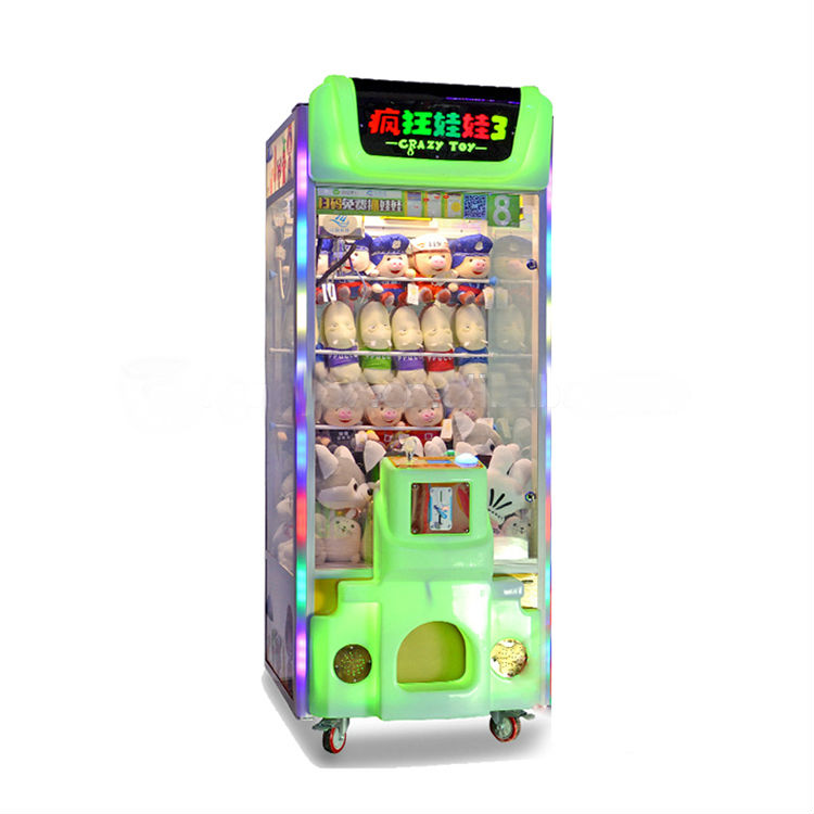 Cheap Crazy Toy Coin Acceptor Plush Toy Claw Gift Machine sale