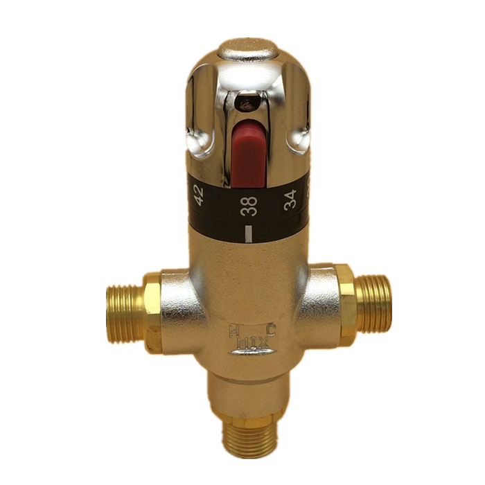 Hongdec HD-AW13 Brass Water Temperature Control Valve Solar Shower Thermostatic Mixing Valve for Sale