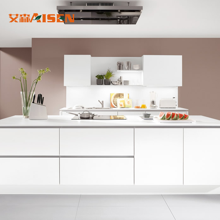 ASKL-001 new modern design built in handle style kitchen cabinet for sale