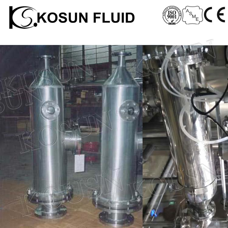 Kosun stainless steel industrial resin Trap for water treatment