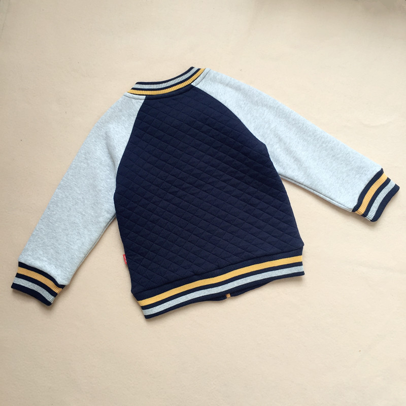 LT1073 quilted baby cardigan with CVC fleece sleeve for sale
