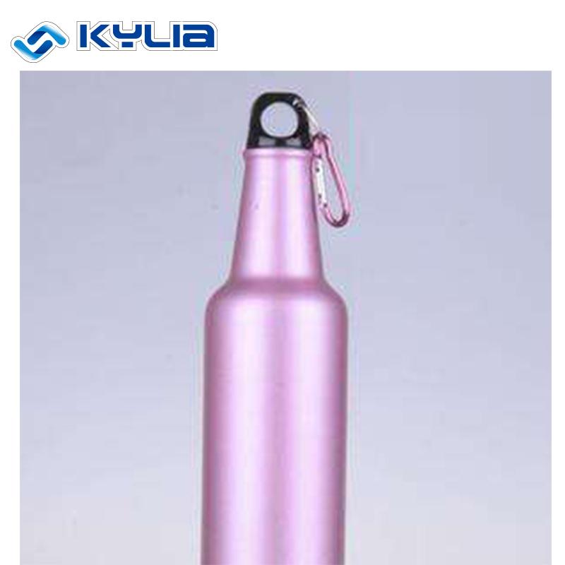 Purple Color Screw Cap Enclosing Aluminum Sports Water Bottle for sale