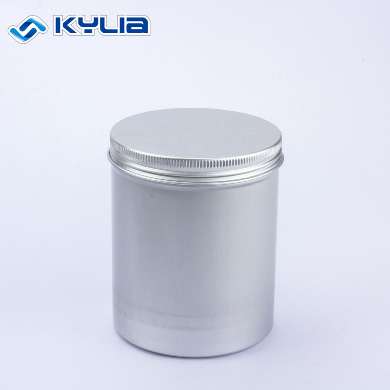 Tall Round 250Ml Aluminum Slim Canister Can With Screw Cap for sale